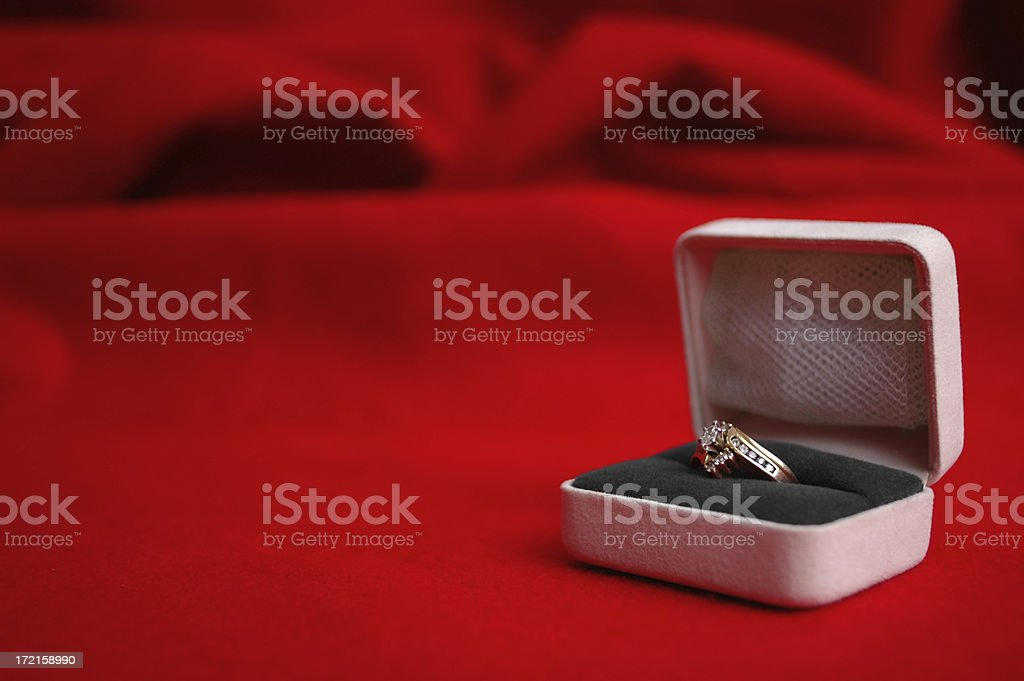 Ring for Valentine's Day royalty-free stock photo