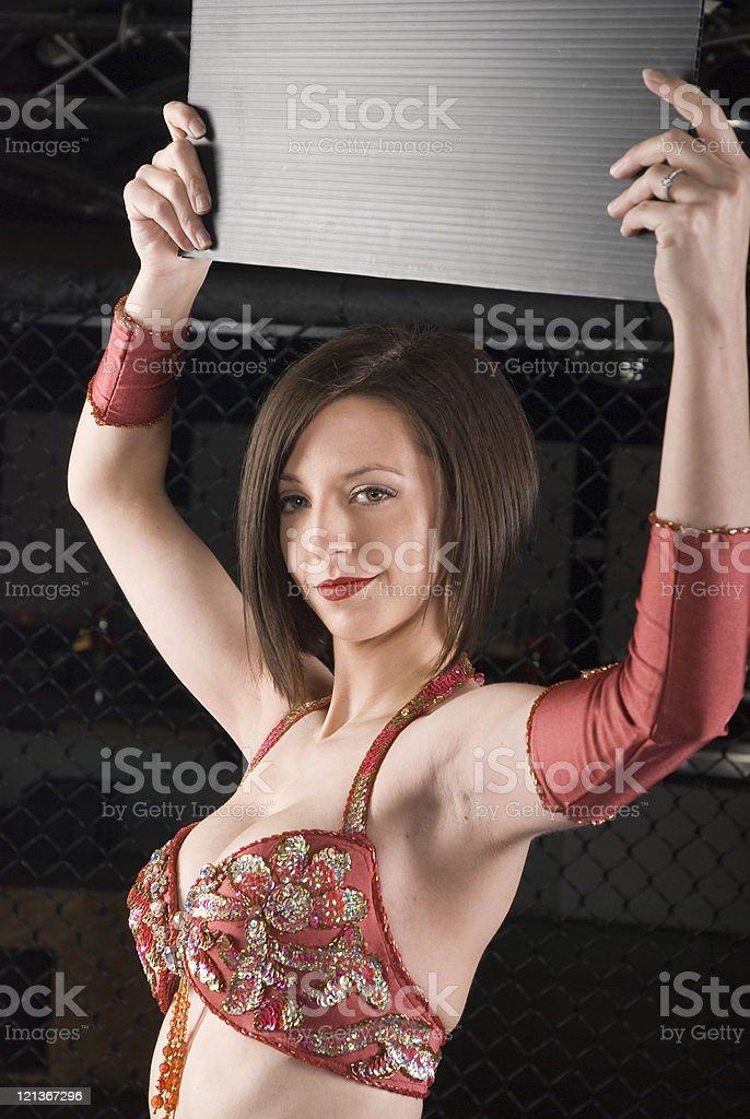 Ring Girl stock photo