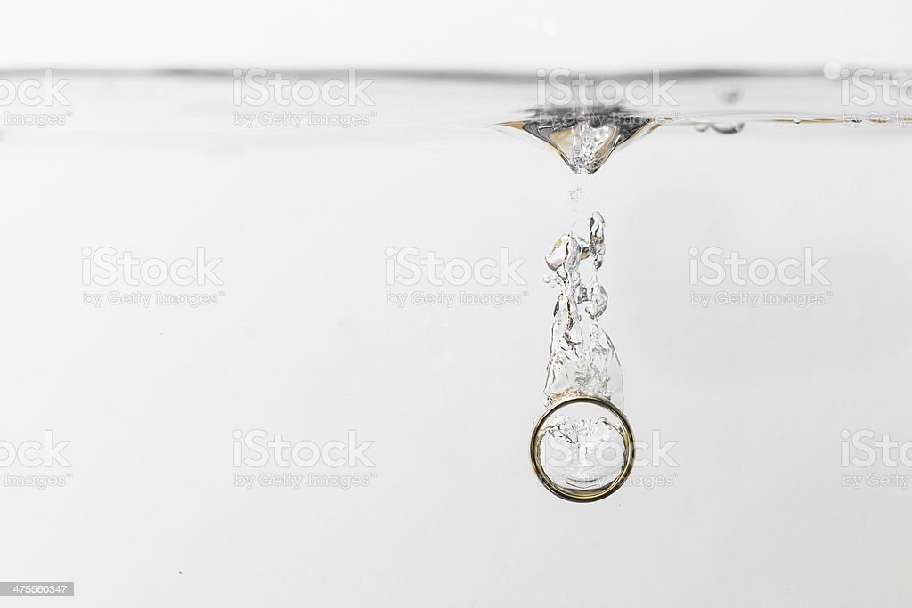 Ring im Wasser stock photo