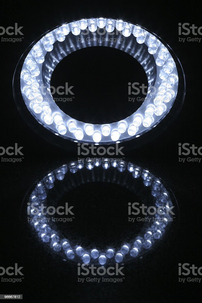 Ring Light with LEDs stock photo