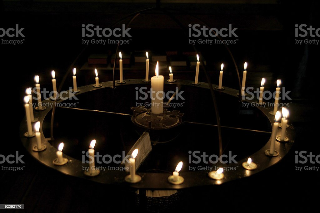 Ring of Candles royalty-free stock photo