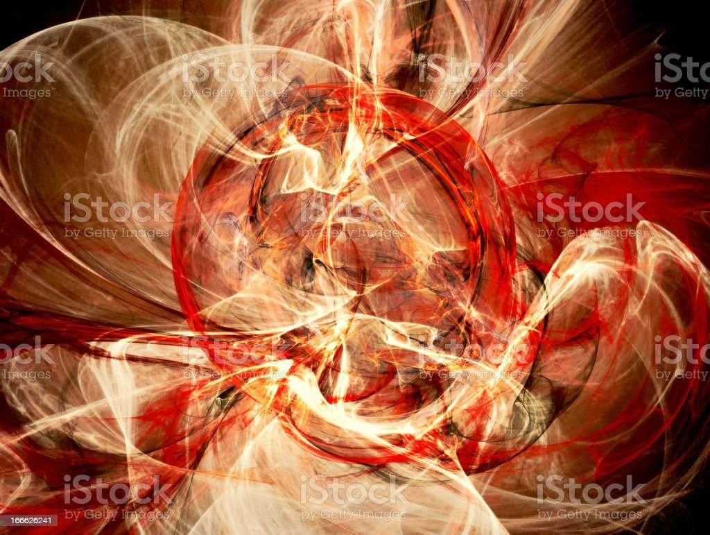 Ring of fire fantasy abstract background royalty-free stock photo