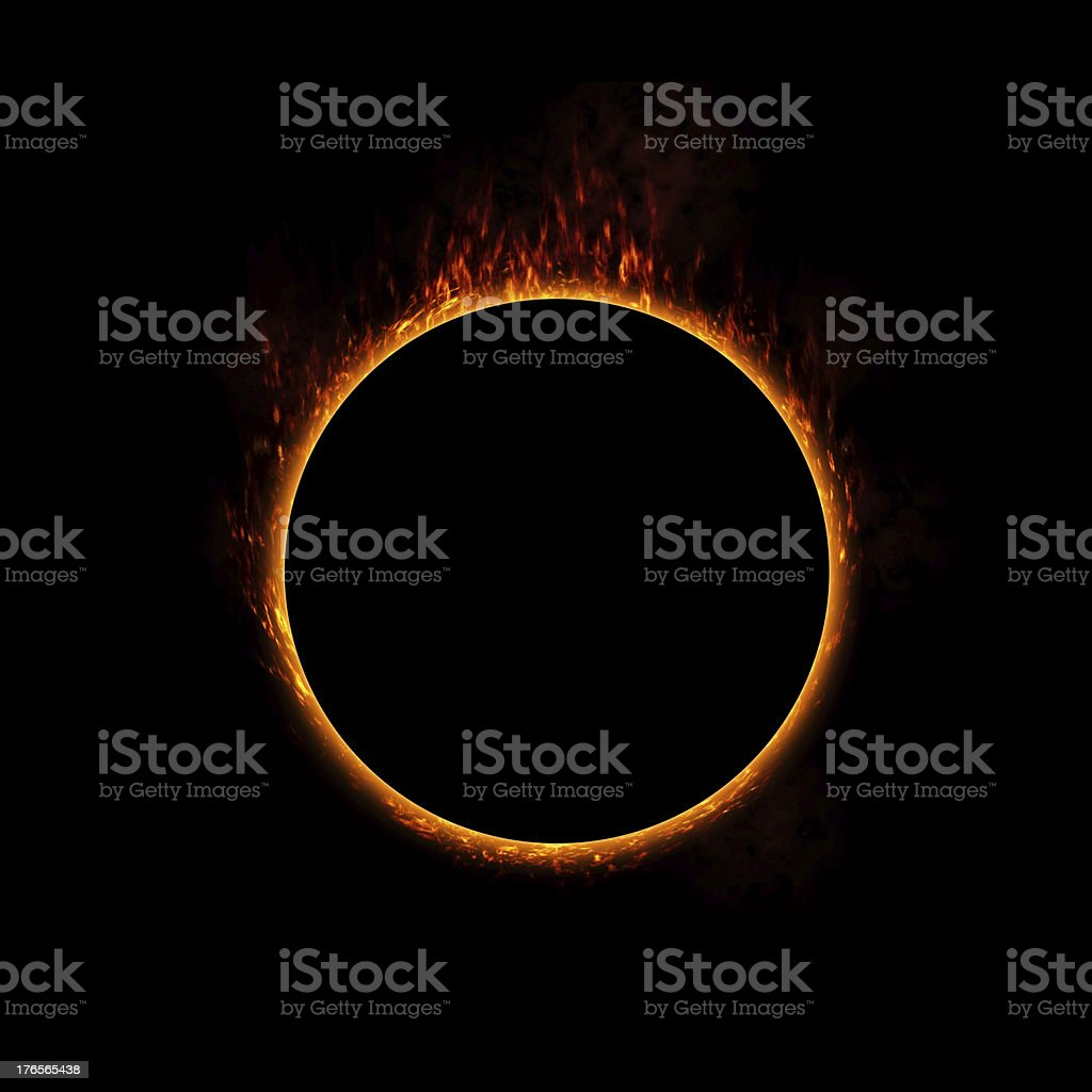 Ring of Fire stock photo
