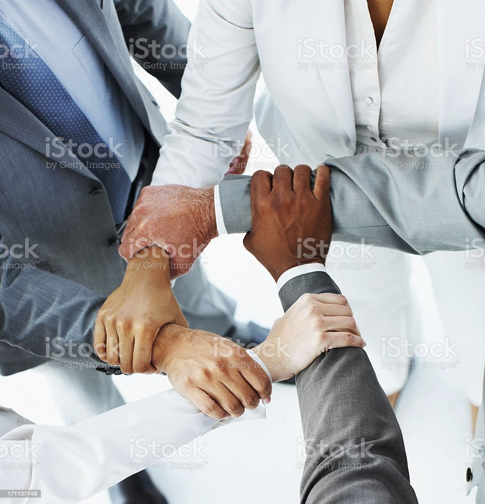 Ring of hands by the business people royalty-free stock photo