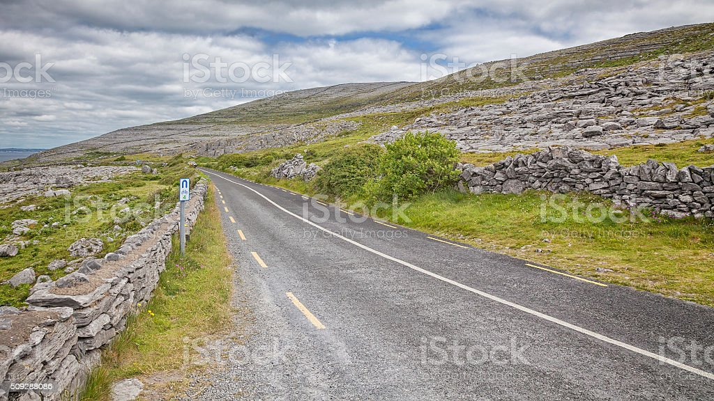 Ring of Kerry road stock photo