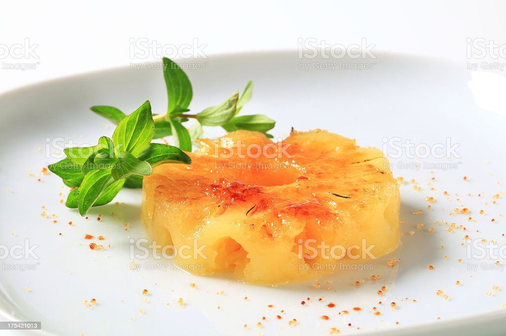 Ring of pineapple on a plate royalty-free stock photo