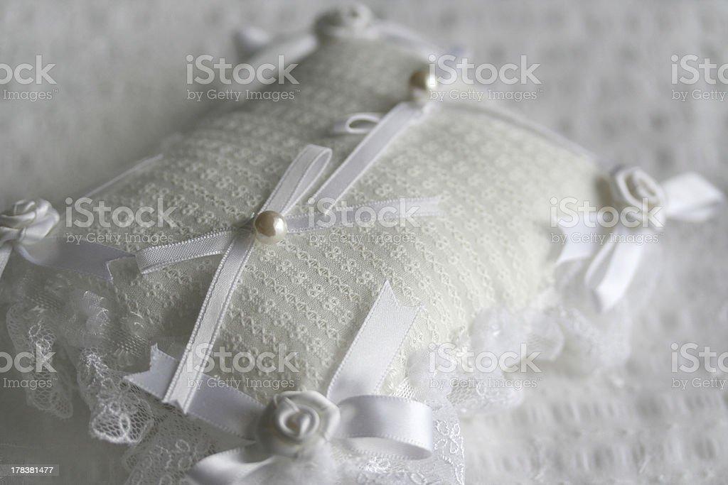 Ring pillow stock photo