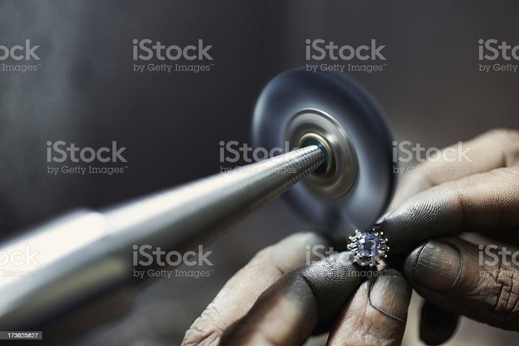 Ring Polishing stock photo