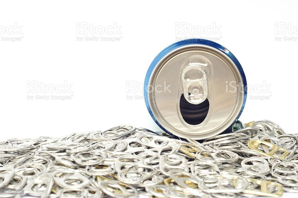 ring pull and can royalty-free stock photo