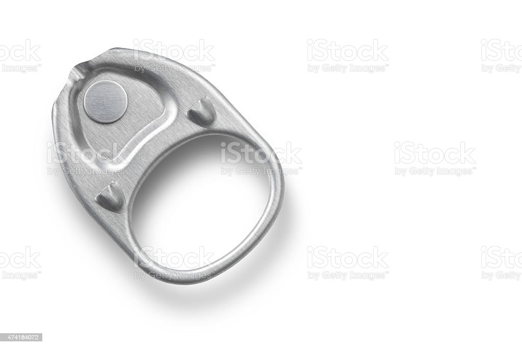 Ring pull stock photo