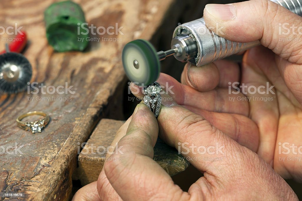 Ring Repairing & Polishing royalty-free stock photo
