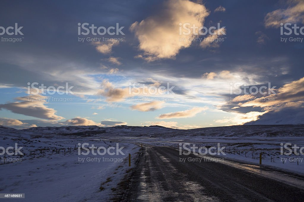 Ring Road in Iceland Sunrise royalty-free stock photo