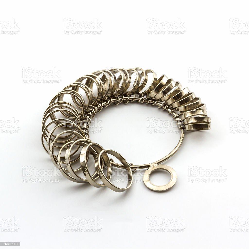 Ring Sizing. stock photo