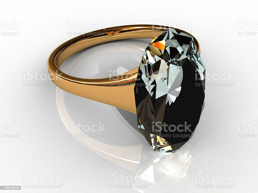 Ring with a topaz royalty-free stock photo