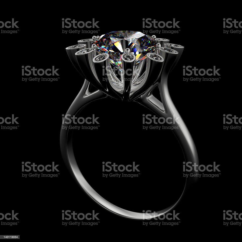 Ring with diamond royalty-free stock photo