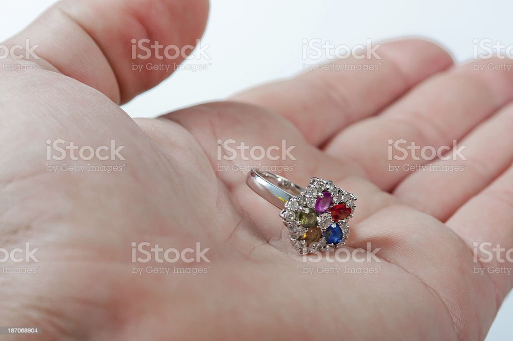 Ring with diamonds royalty-free stock photo