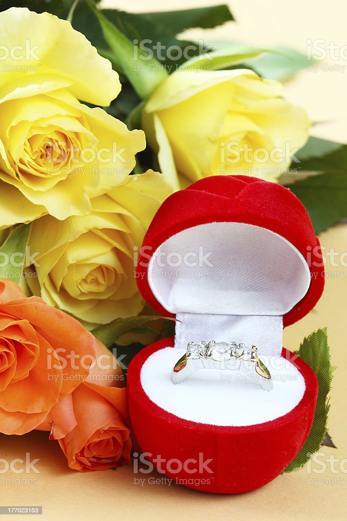 Ring with roses royalty-free stock photo