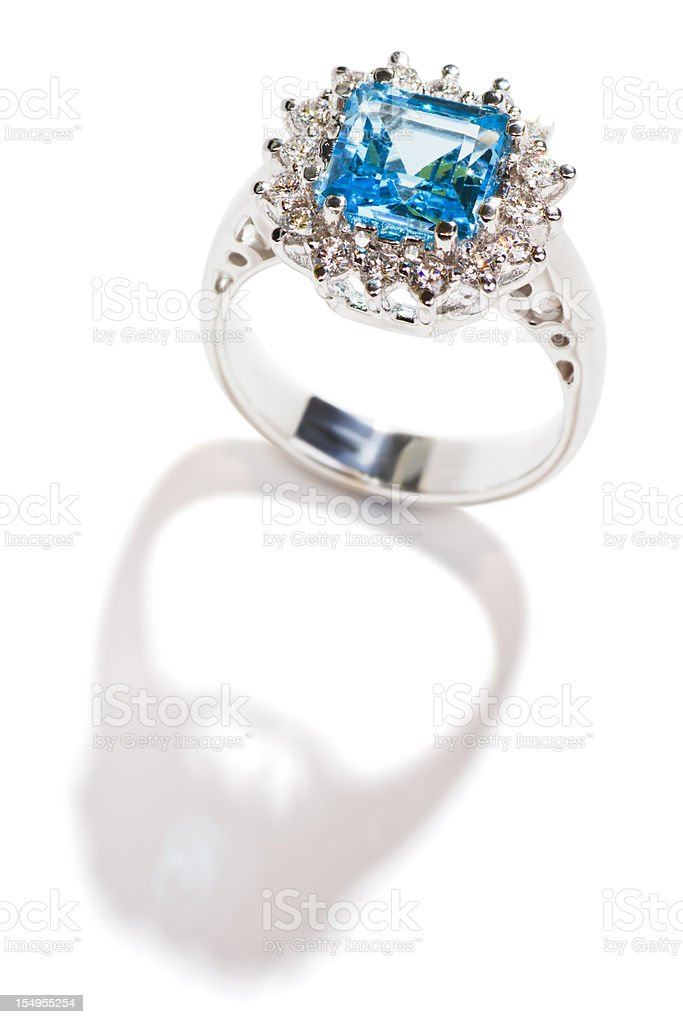 ring with topaz stock photo