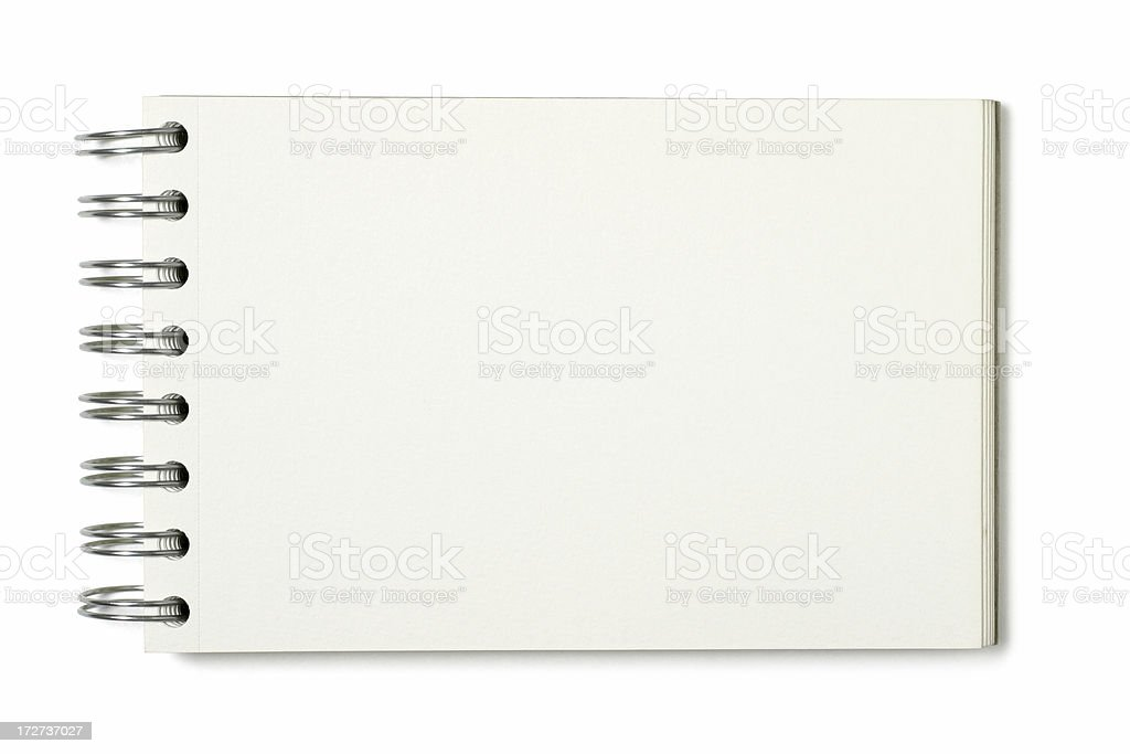 Ring-bound Sketch Book royalty-free stock photo