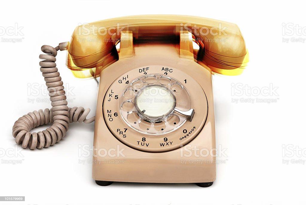 Ringing phone stock photo