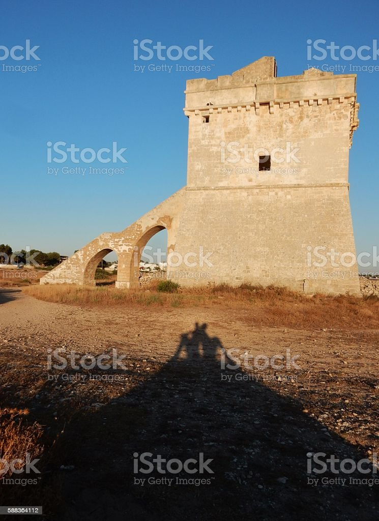 Torre Squillace – Ombre di kappa stock photo