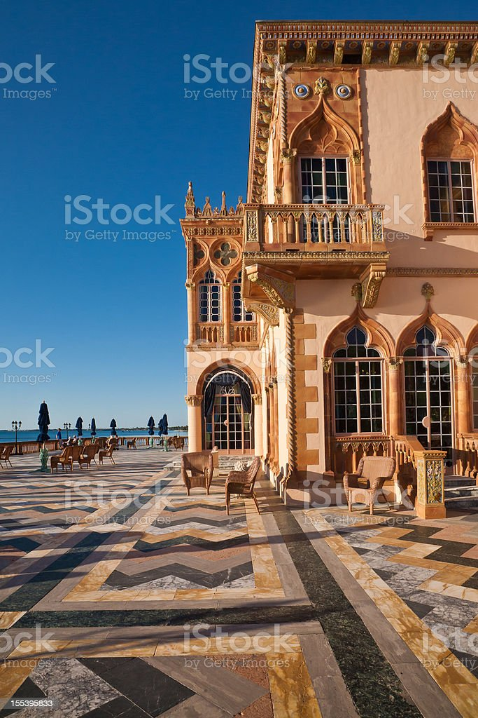 Ringling Mansion - Sarasota, Florida stock photo