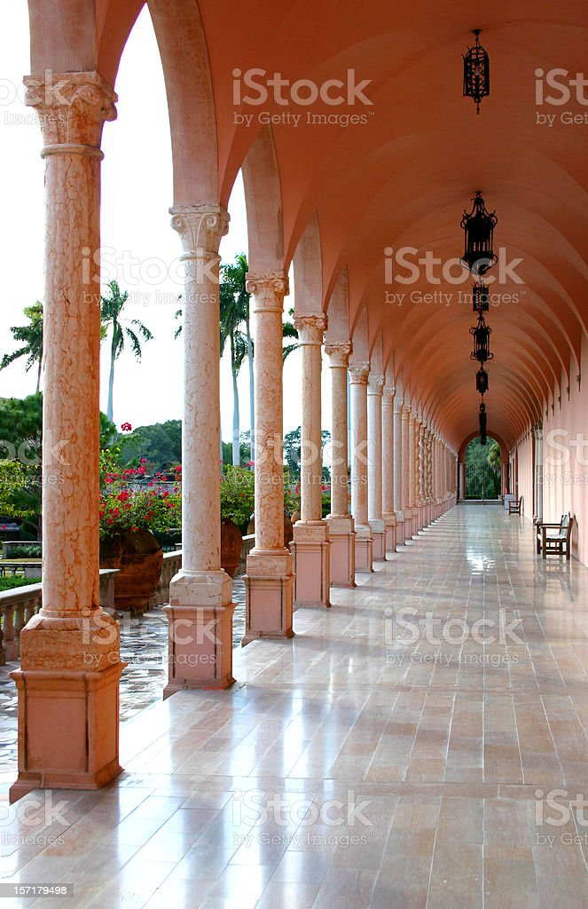 Ringling Museum Corridor of Columns stock photo
