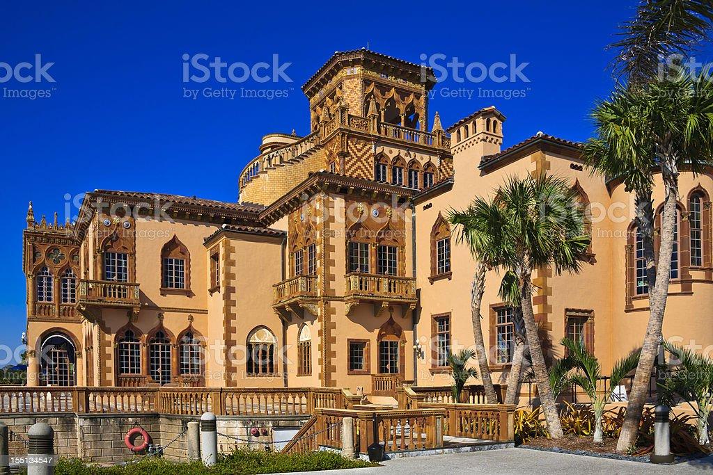 Ringling Museum Mansion - Sarasota, Florida. stock photo