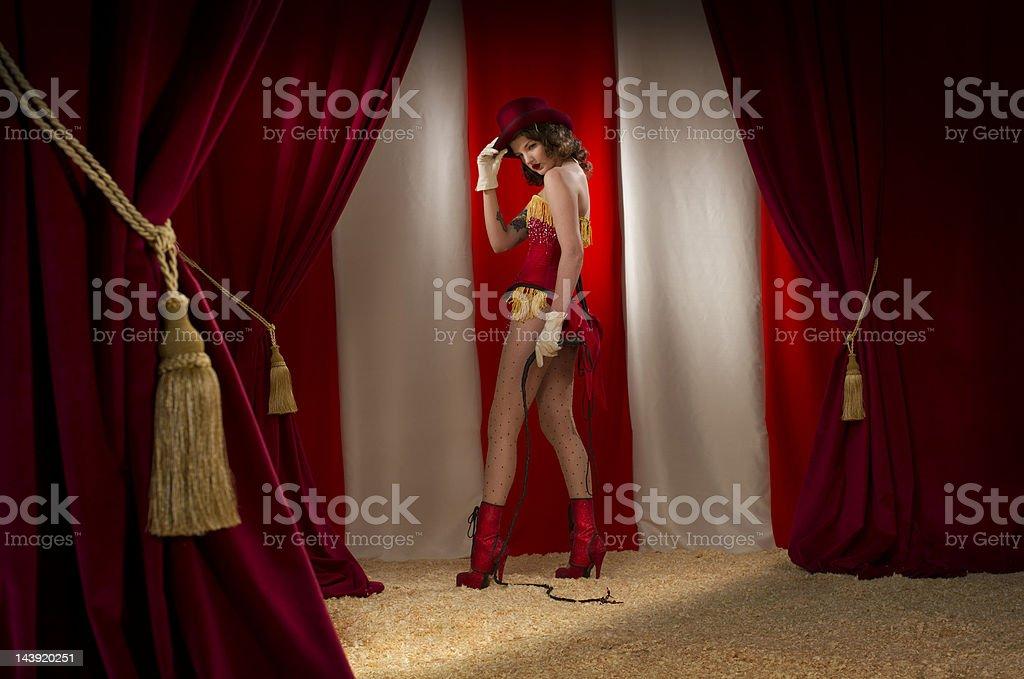 ringmaster burlesque stock photo