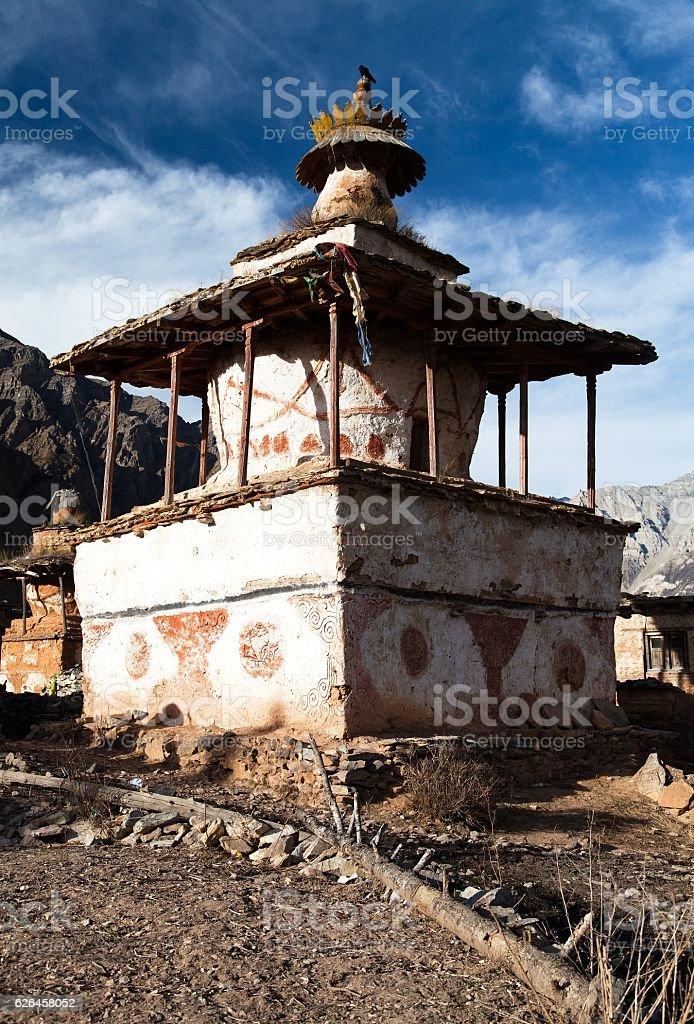 Ringmogaon - Phoksundo trek - Lower Dolpo - Village in western Nepal stock photo