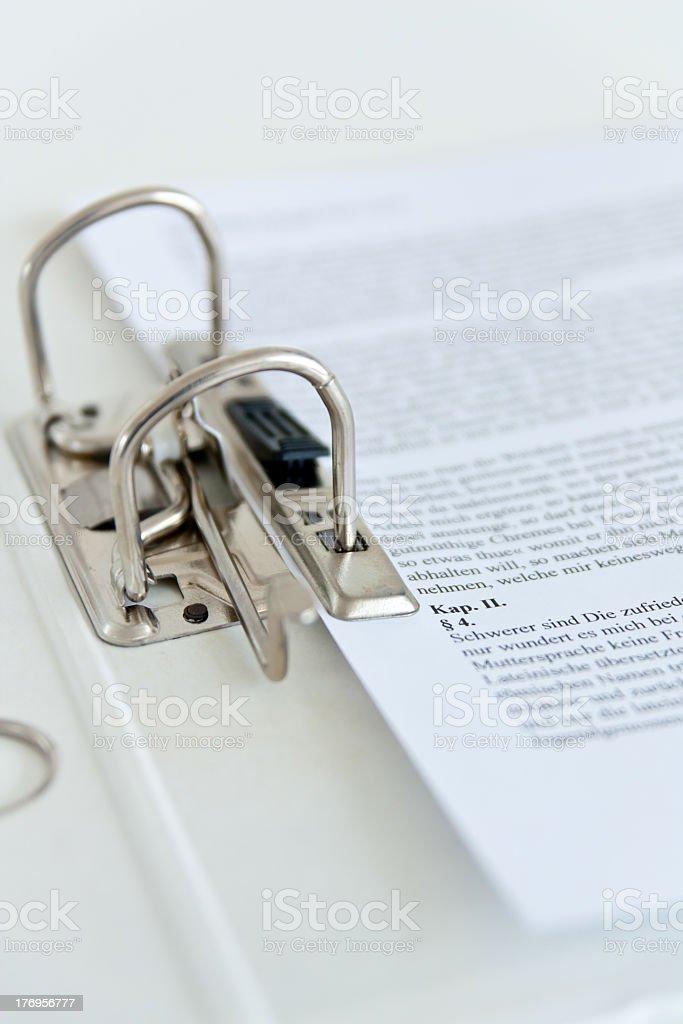 Ringordner - Ring File II stock photo