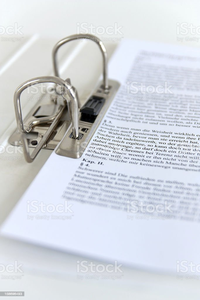 Ringordner - Ring File III stock photo