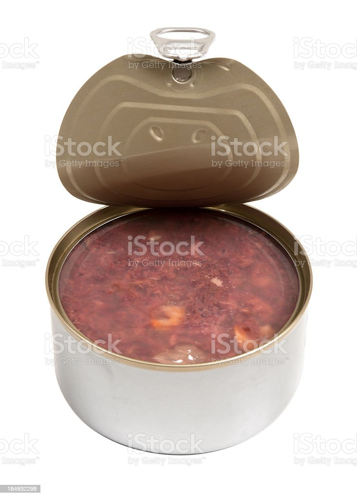 Ring-pull Canned Meat stock photo