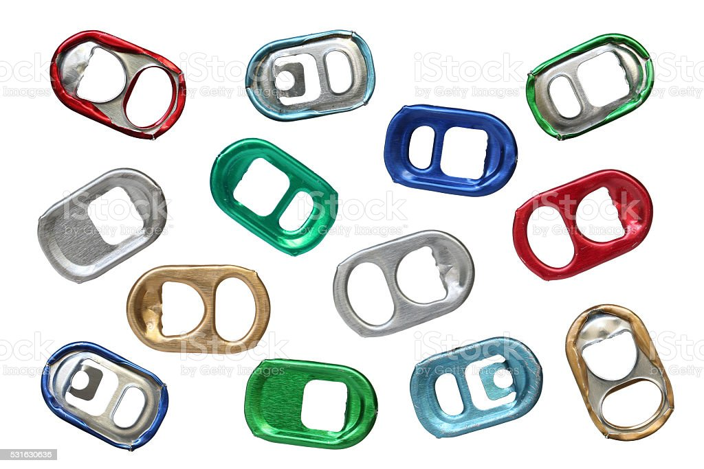 Ring-pulls. stock photo