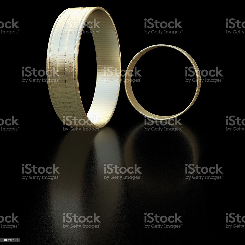 Rings - 3d rendered illustration royalty-free stock photo