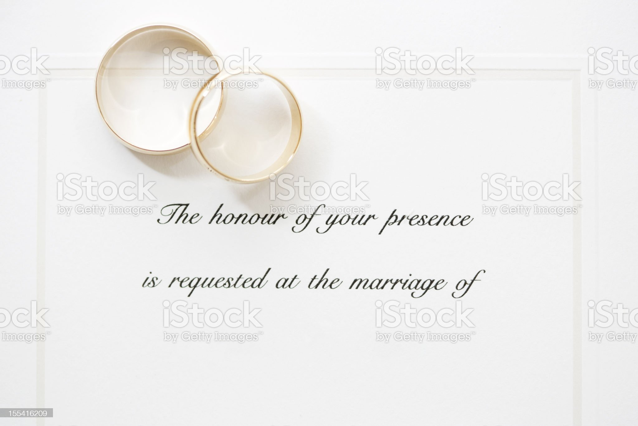 Rings and Invite royalty-free stock photo