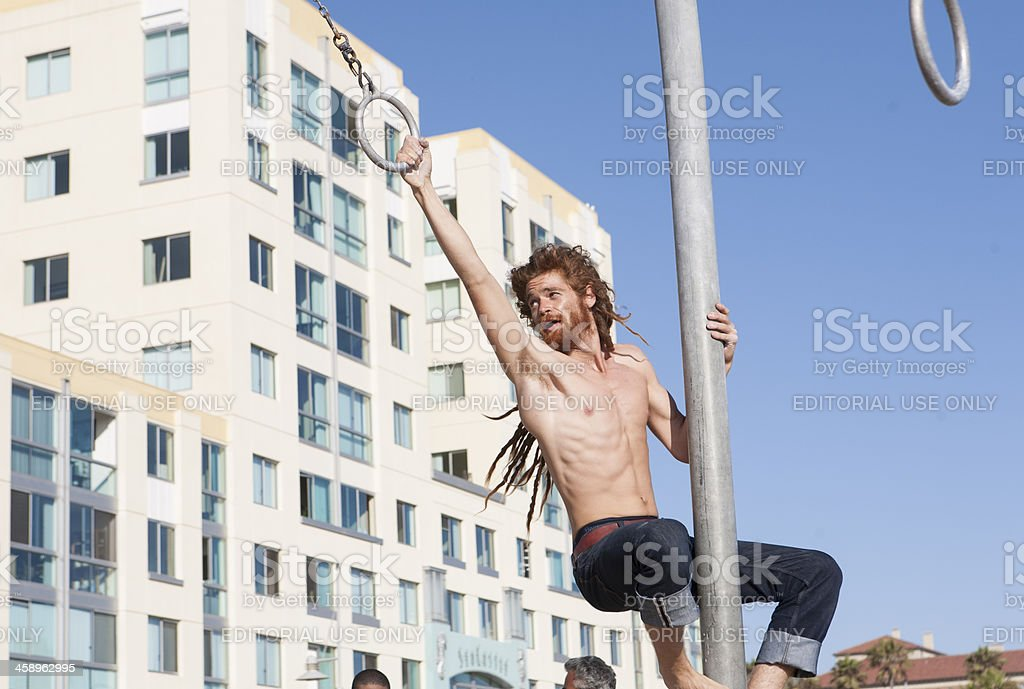 Rings Guy, Santa Monica royalty-free stock photo