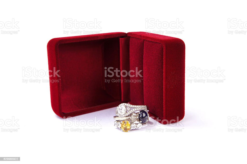 Rings Jewelry is popular  A symbol of love stock photo