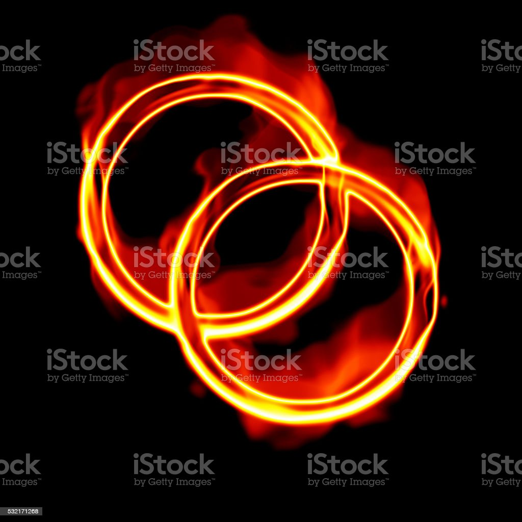 Rings of fire stock photo