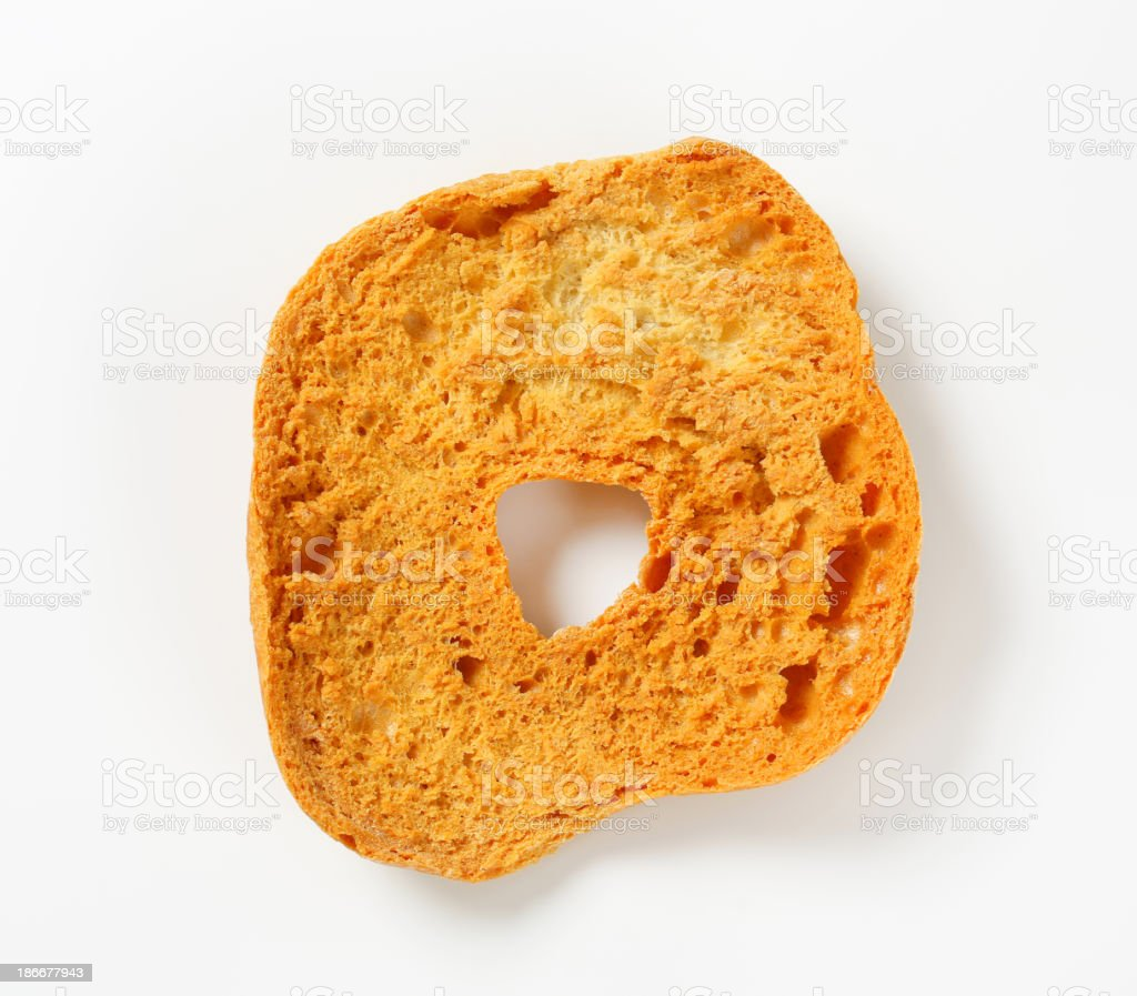 Ring-shaped bread roll stock photo