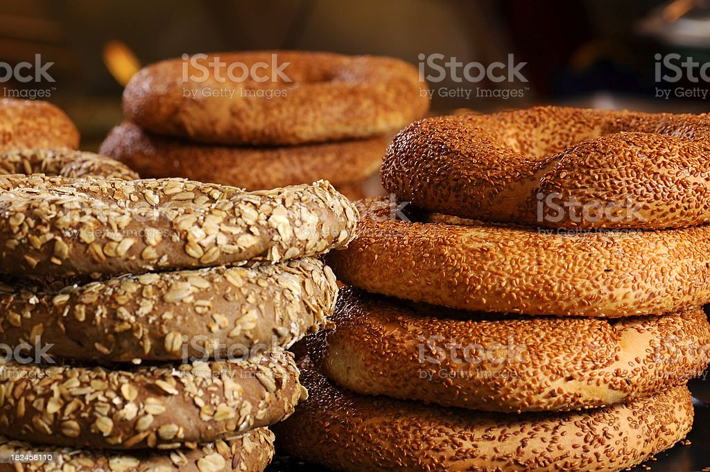 ring-shaped breads stock photo