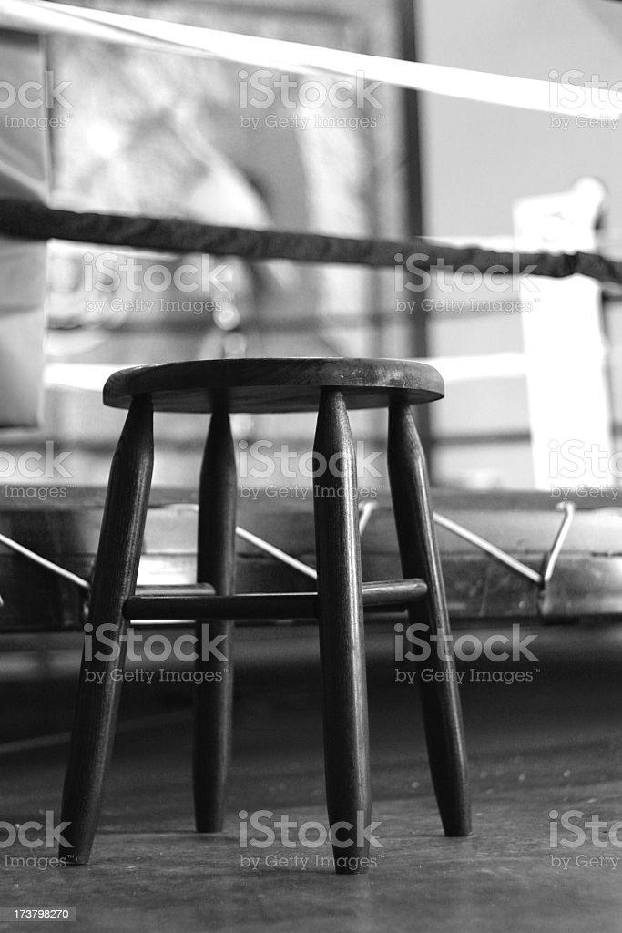Ringside seat - BW stock photo