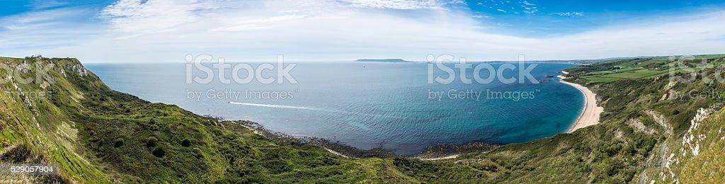 Ringstead Bay Panorama stock photo