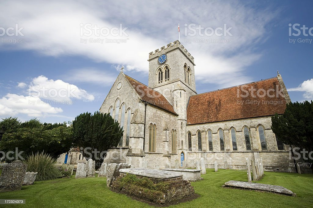 Ringwood Church stock photo