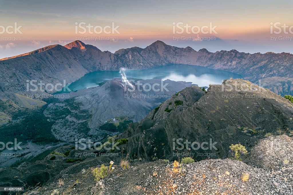 Rinjani National Park Lombok Island - INDONESIA stock photo