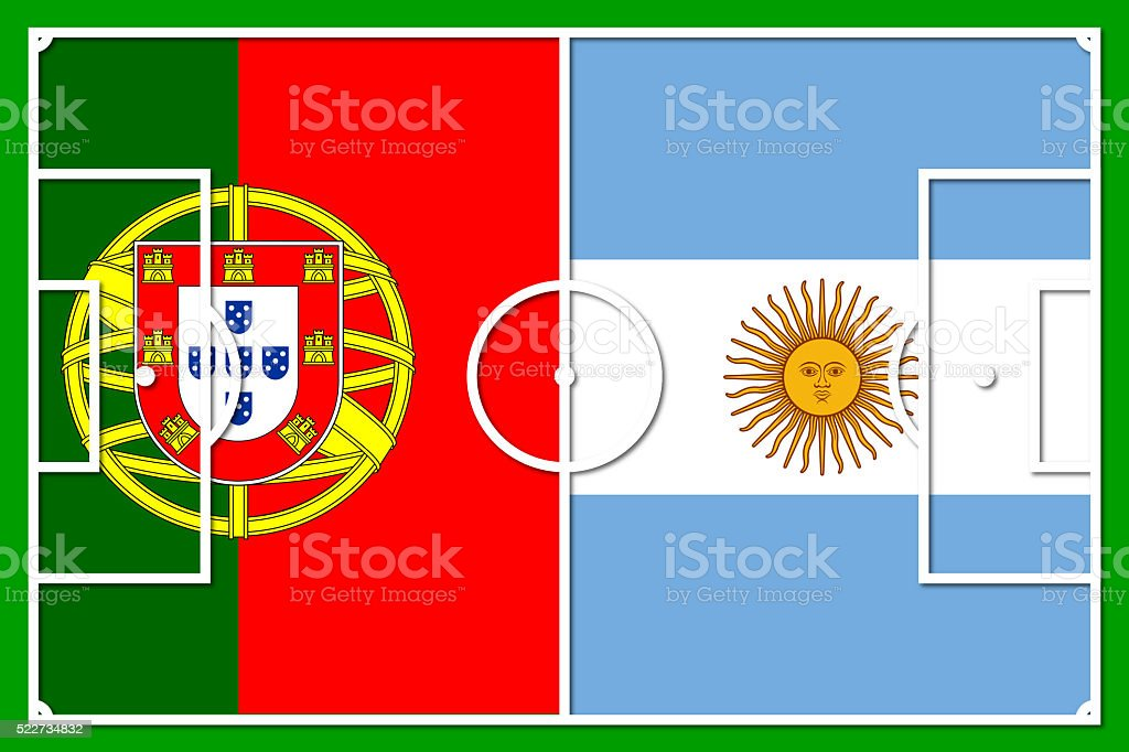 rio 2016 football group d - portugal argentina stock photo