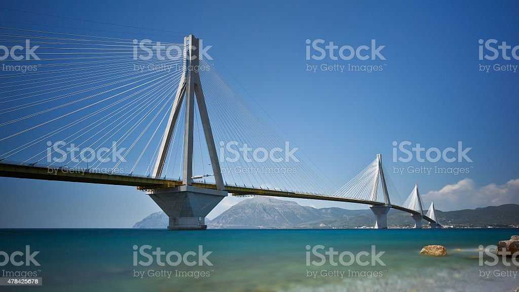 Rio Antirrio bridge. stock photo