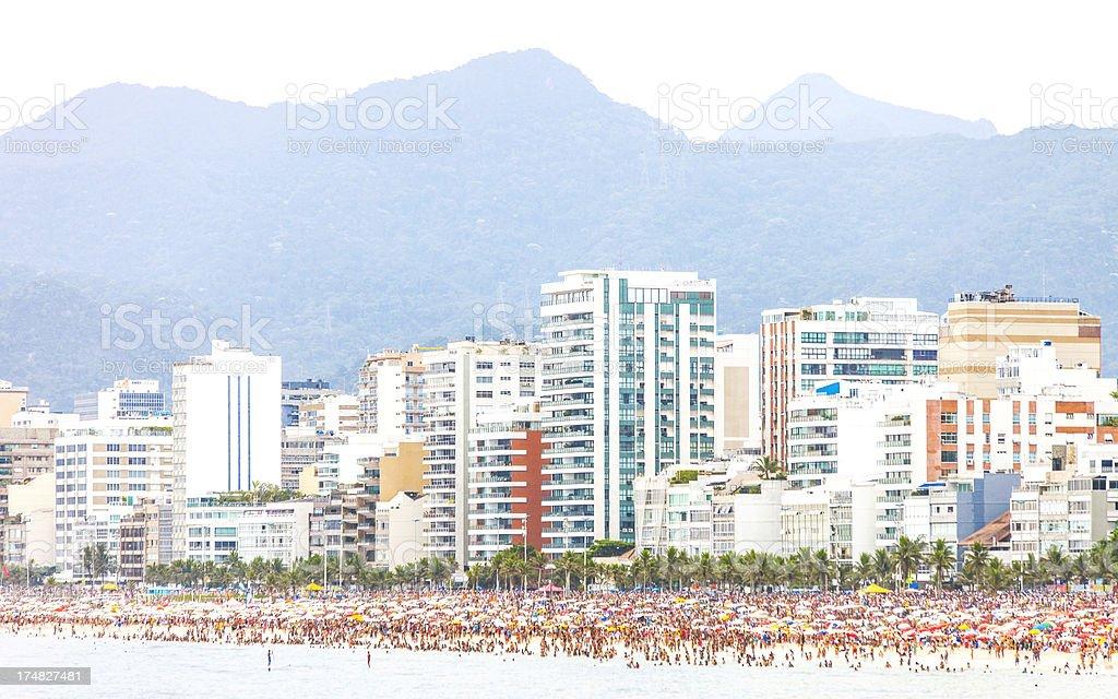 Rio beach. royalty-free stock photo
