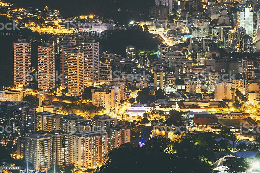 Rio by night. royalty-free stock photo