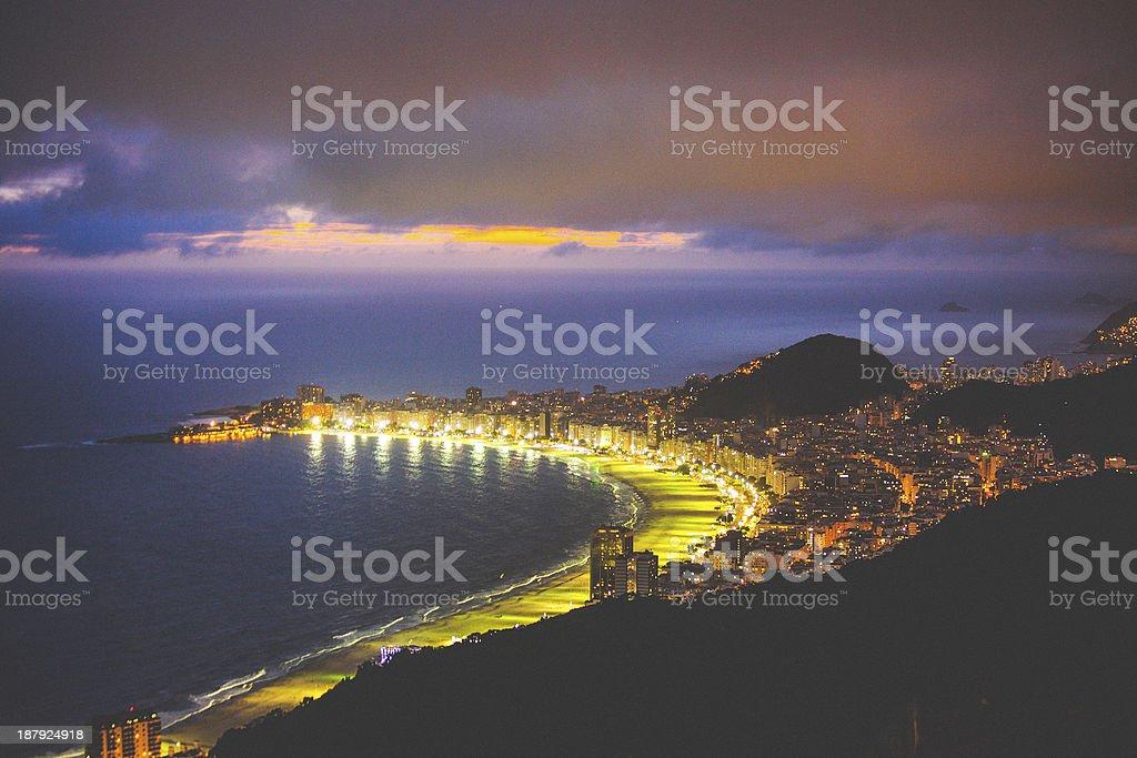 Rio by night. stock photo